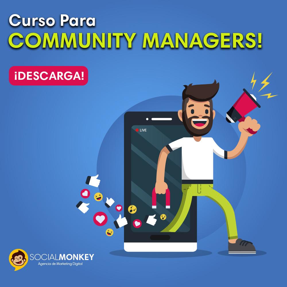 Curso para Community Manager Descarga Agencia SocialMonkey Redes Sociales Desarrollo Web Marketing Digital Contenido